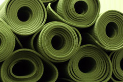 Free yoga mats provided free at YogaSpace Bishopston