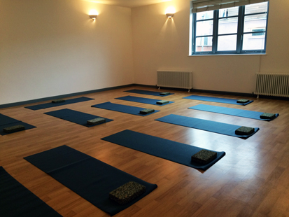 YogaSpace Bishopston Open Day October 1st 2016 studio with yoga mats